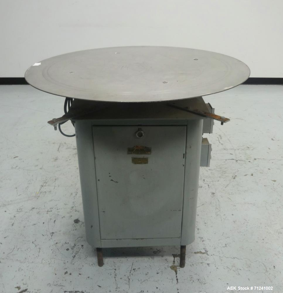 Used- Island Equipment Corp. Model Styl-O-Matic Rotary Accumulation Table