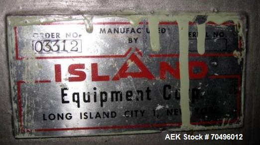 "Used- Island Equipment Accumulation Table, 40"" Diameter Stainless Steel Construction."