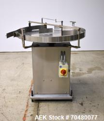 "Used- Anderson Machine Works 36"" Stainless Steel Turntable."