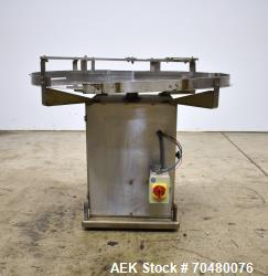 "Used- Anderson Machine Works 48"" Stainless Steel Turntable."