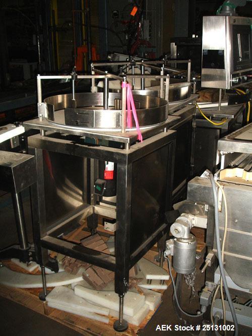 "Used- Stainless Steel Accumulating Table, 24"" Diameter"