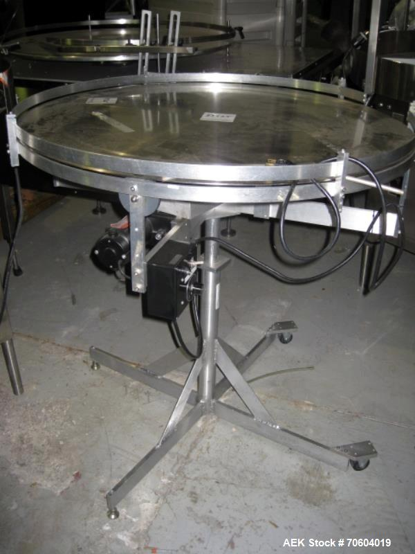 "Used- Stainless SteelPark Products 36"" Accumulation Table"