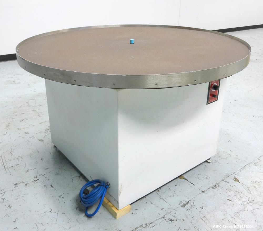 "Used- 48"" Diameter Rotary Turntable/Accumulation Table"