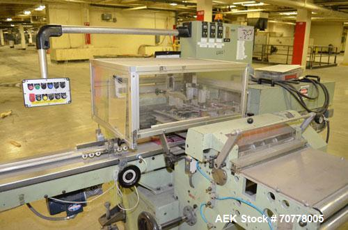 Used- BFB (IMA) Model 3701U Automatic Carton Overwrapper. Capable of speeds up to 150' per minute - actual package per minut...