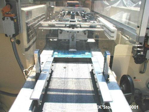 Used- BFB 3701 U Automatic Overwrapping Machine, 380v/50 hz, rated up to 150 cpm. Size range 40mm - 125mm long x 23mm - 90mm...