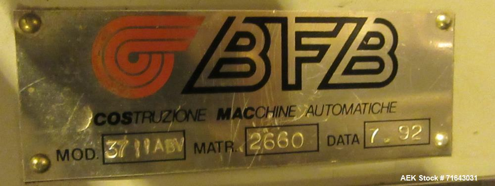Used-BFB Carton Bundler Model 3711ABV, Stainless Steel. Built: 1992. Serial no.: 2660.