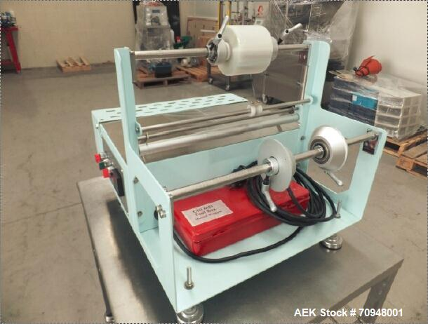 Used-Chie Mei Enterprises Model PM205A Manual Semi Automatic Over-Wrapper.  Capable of speeds up to 4 pieces per minute. Max...