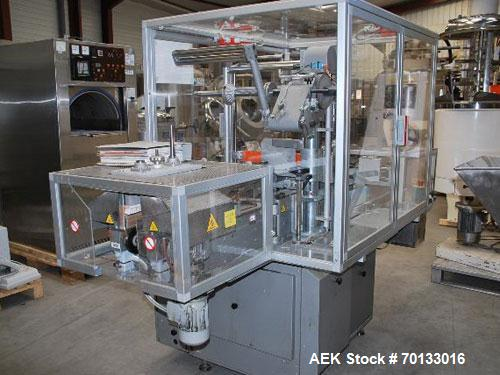 """Used-PRB Automatic Cellophane Overwrapper.  Packing dimensions:  length 2.3"""" - 8.2"""" (60 - 210 mm), width 2.3"""" - 9.8"""" (60 - 2..."""