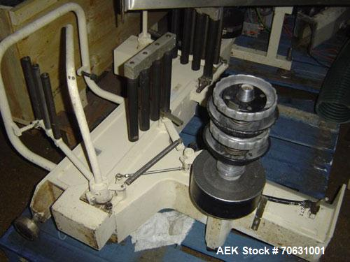 Used-Sapal SC3-100 Foil and Bank Wrapper.  300 Wraps/min maximum depending on size and type of bar.  Current set up 125 gram...
