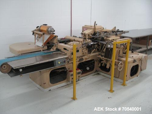 Used-SIG Model DSH Candy Bar Wrapper capable of speeds up to 90 bars per minute. Bar size range: length 130 mm to 200 mm, wi...