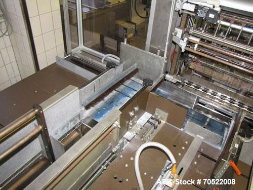 "Used-Sollas 17H125 Overwrapping Machine.  Used for all hot sealing oils, PP/PVC/PE/cellophane.  Formate area length 1.7"" - 1..."
