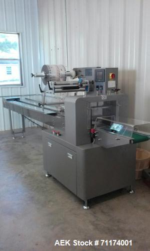 Used-Alpha-Pack Model AHP-100/320 Horizontal Wrapper. Capable of speeds from 35 - 180 packages per minute (Dependining on co...