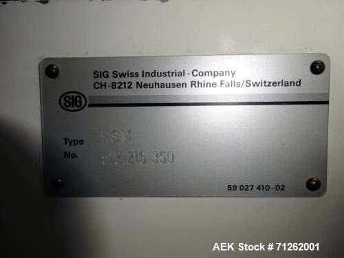 Used- Bosch Sigpack, Model HSM, Horizontal High Speed Horizontal Wrapper