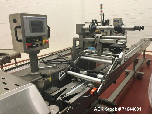 Used- Campbell Model Pioneer Horizontal Flow Wrapper. Capable of speeds up to 200 packages per minute. Currently set up with...