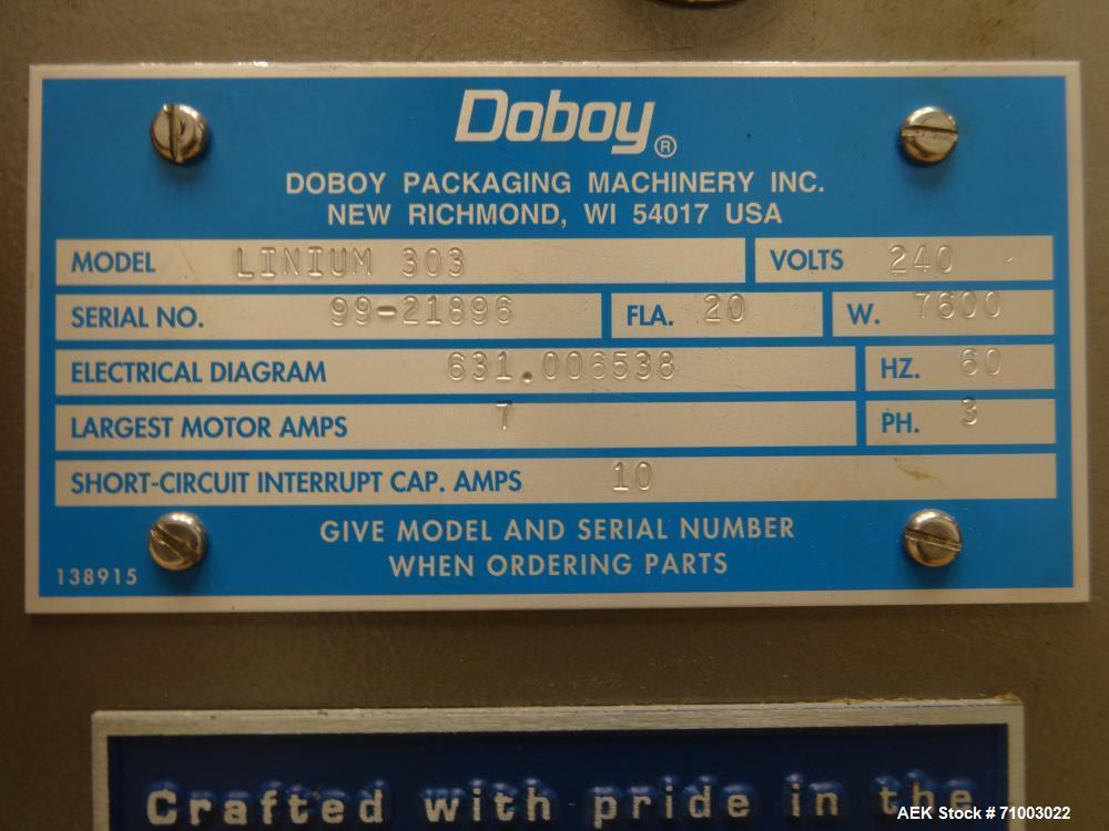 Used-Bosch Doboy Linium 303 Long Dwell Horizontal Flow Wrapper