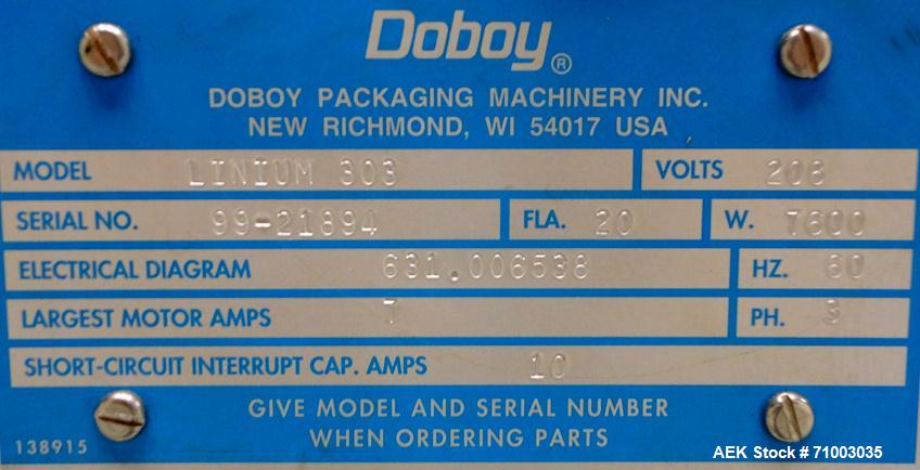 Used-Bosch Doboy Linium 303 Long Dwell Horizontal Flow Wrapper