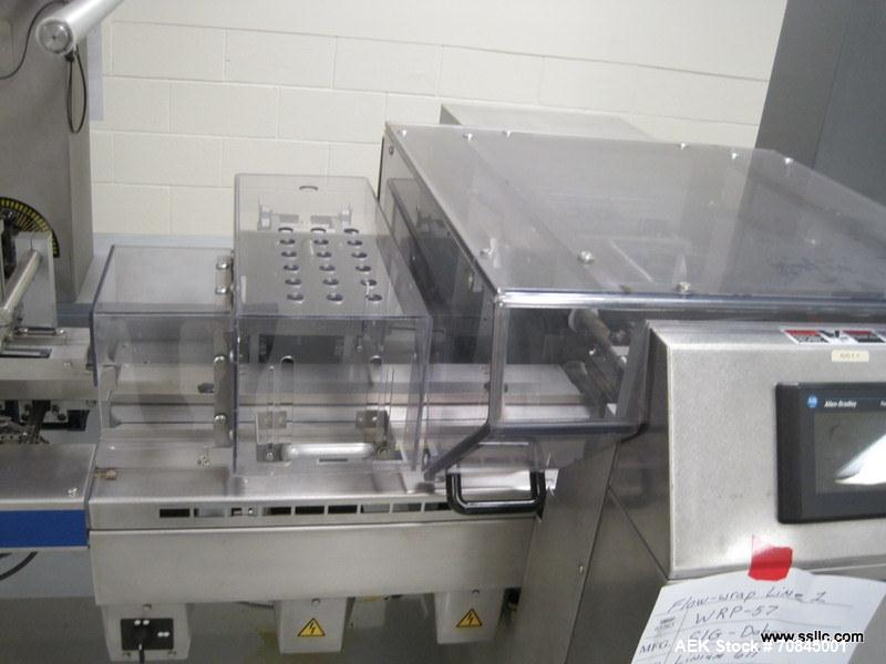 Used-Doboy (Bosch) Linium 611 Horizontal Wrapper. 3 Up machine capable of speeds over 400 packages per minute. Has 180 mm cr...