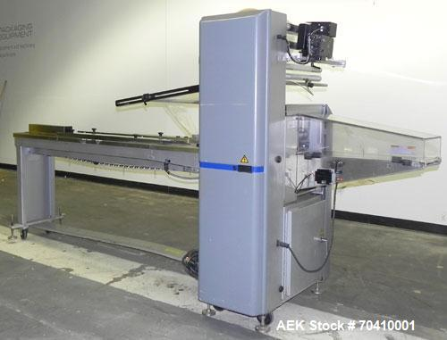Used- Bosch Doboy Model Stratus Horizontal Wrapper. Machine is capable of speeds from 20 to 150 packages per minute. Single ...