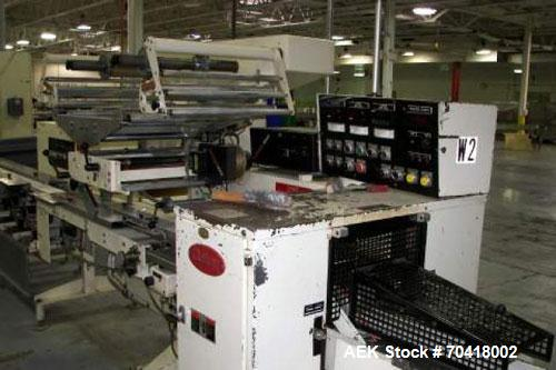 Used-Doboy Model J Wrapper with inline product feeder. Servo driven smart belts position products to the infeed lugs of the ...