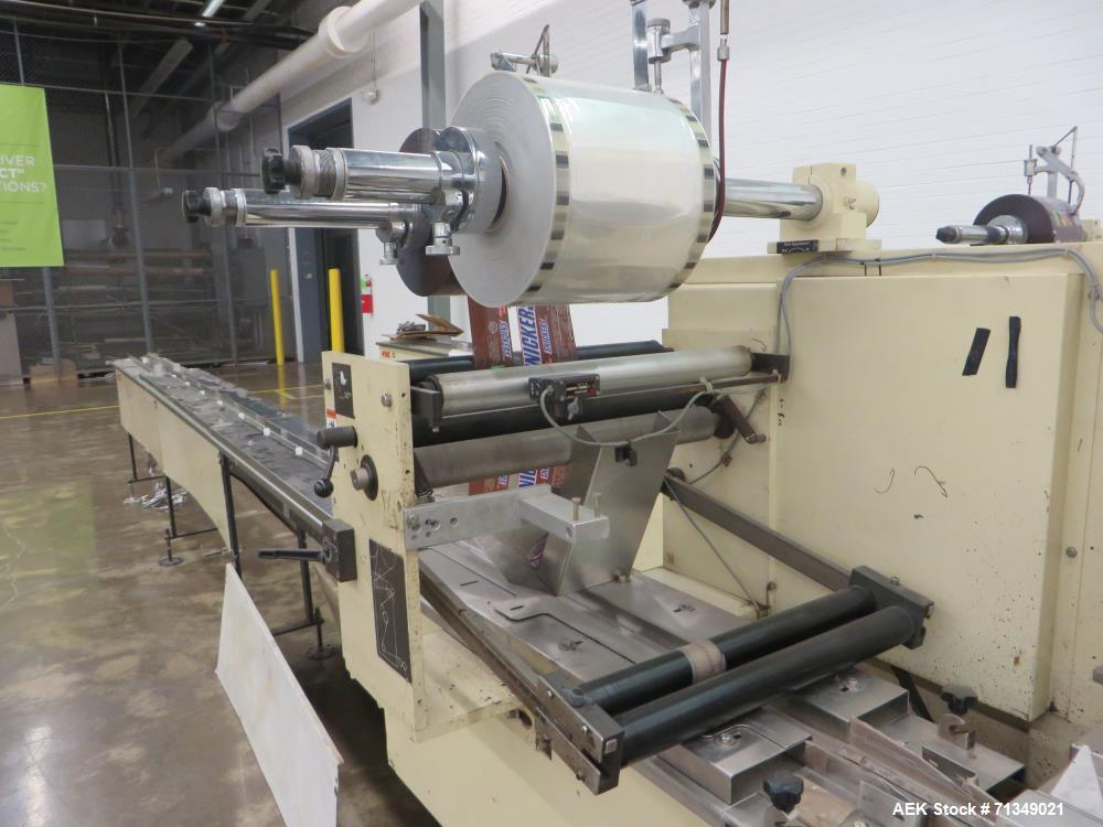 Used- FMC Model WSD-20 Automatic Stainless Steel Servo Flo Horizontal Wrapper. Capable of speeds to 150 packages per minute ...
