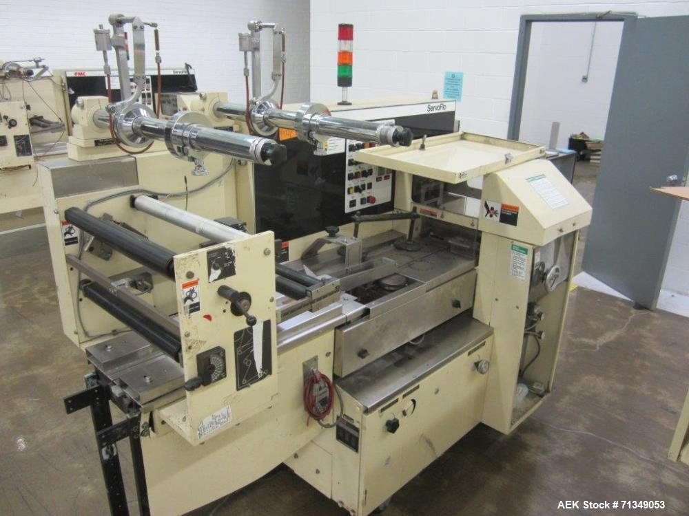Used- FMC Model WSD-20 Automatic Stainless Steel Servo Flo Horizontal Wrapper. PARTS MACHINE ONLY, MISSING INFEED.
