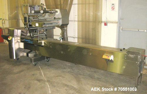 Used-Fuji Model FW3400 Alpha VI Horizontal Wrapper capable of speeds from 10-100 packages per minute as now configured 1-up....