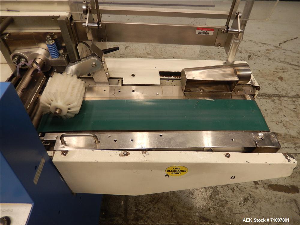Used- Fuji Formost Model FW-3400 Horizontal Form, Fill & Seal Wrapper.