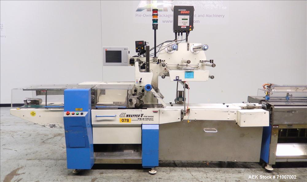 Used- Fuji Formost Model FW-3400 Alpha V Horizontal Form, Fill & Seal Wrapper.