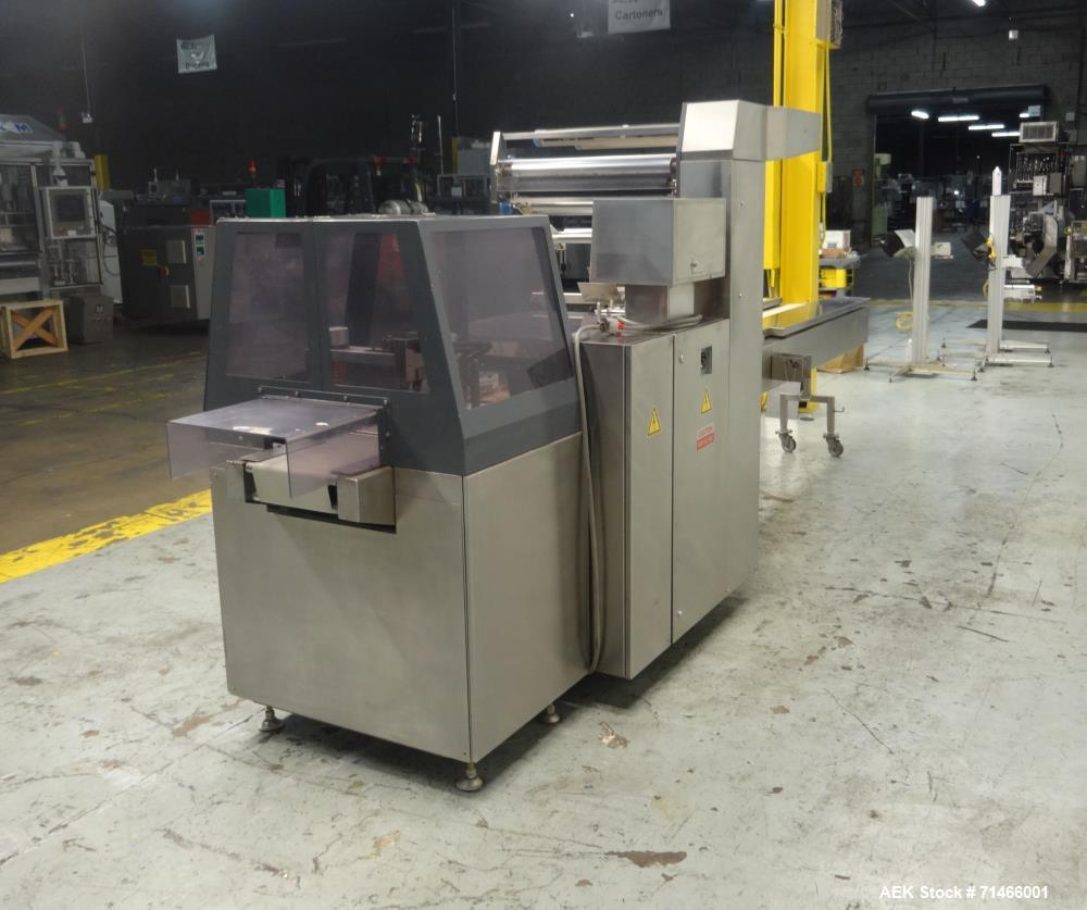 "Used- Fuji Model 3710B Box Motion Long Dwell Wrapper up to 5"" Height."