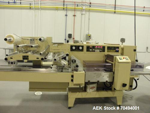 """Used-Ilapak Cougar Wrapper, Model """"UNO"""", capable of speeds up to 120 packages per minute. Has extended lugged chain infeed. ..."""