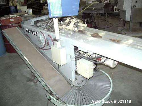USED: Hayssen RT-110 horizontal inverted seal wrapper. Unit is commonly used for packaging hard to wrap items.