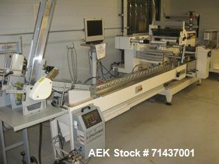 "Used- Ilapak High Speed Card Wrapping Line (Flowpack style). 330 cards per minute (size up to 2.125"" x 3.375""). Includes: Il..."