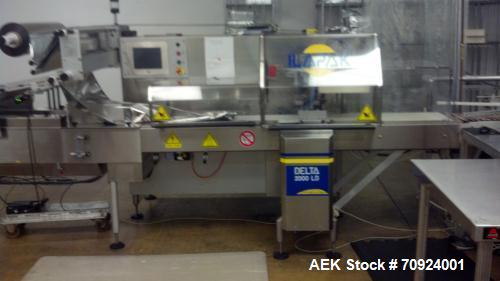 Used- Ilapak Model Delta 2000 LD Long Dwell Horizontal MAP Wrapper capable of speeds up to 60 packages per minute.  Maximum ...