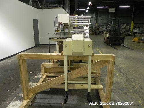 Used- Ilapak Lynx Compak Model DUE Horizontal Wrapper capable of speeds up to 130 packages per minute. Has a two up sealing ...