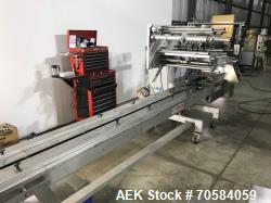 Used- Bosch Pack 201 Horizontal Flow Wrapper. Capable of speeds up to 100 packages per minute  with a 1 up cutting head. Pro...