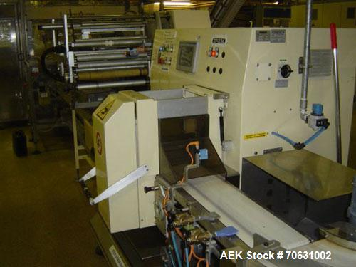 "Used-Otem M300DX Flowpack Wrapper.  Maximum pack height 3.5"" (90 mm).  Maximum pack length 15"" (380 mm).  Knives 9.4"" (240 m..."