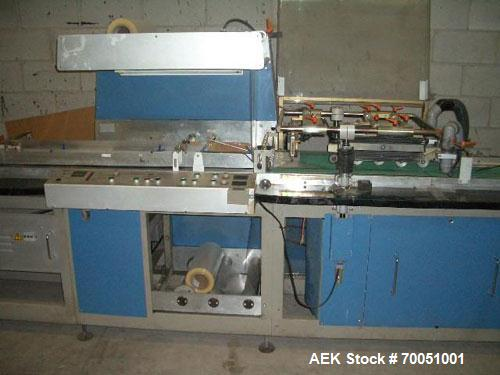 Used-Pfankuch Model VP450 Series Wrapper System. Three station infeed section with mounts for three feeders. Three model 450...