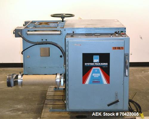 Used- Systems Packaging Vertical Double Web Cold Seal Packaging Machine