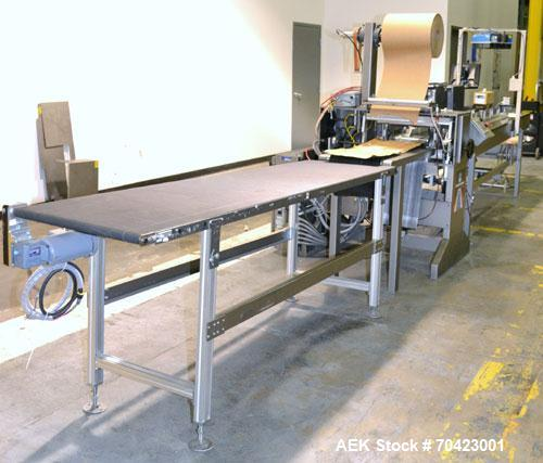 Used- System Packaging Random Length Cold Seal Packaging Machine, Model 9000-18, capable of 35 units per minute at a 6 lengt...