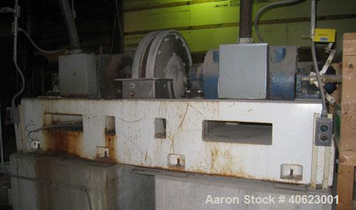Used- C.E. Bauer Double Disc Refiner, model 400-SF-5, size 36. 316 stainless steel product contact areas. Approximate (2) 36...