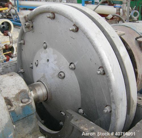 Used- C.E. Bauer Double Disc Refiner, Model 400-SF-5