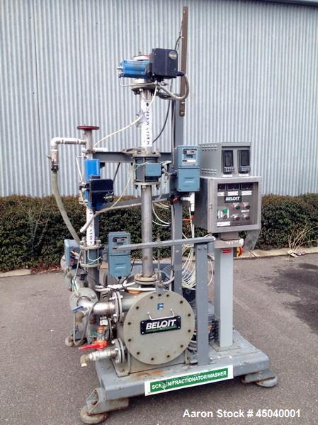 Used-Stainless Steel Beloit Horizontal Pressure Screen / Fractionator/ Washer