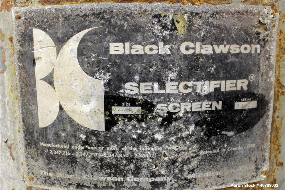 Used- Black Clawson Selectifier Screen, Model 24P, Carbon Steel.
