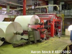 Used- Ahlstrom Slitter Rewinder. 2600 mm capacity. Speed 1800 m/min. Beloit cutting unit. Unwind width 800 - 2850mm. Unwind ...