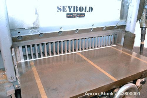 Used- Harris Seybold Mechanical Shear/Cutter, Model CFB
