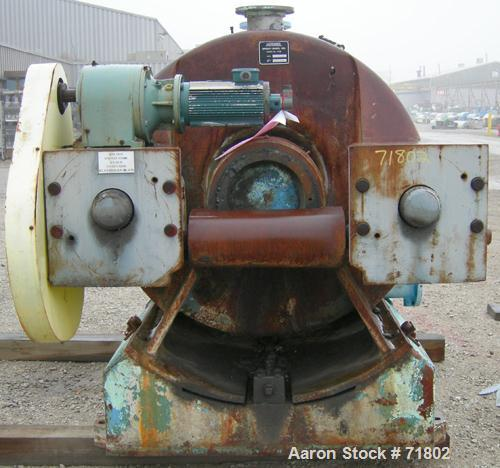 "Used- Stainless Steel Andritz Sprout Bauer 42"" Twin-Flo Electromechanical Refiner, Model R42EM"