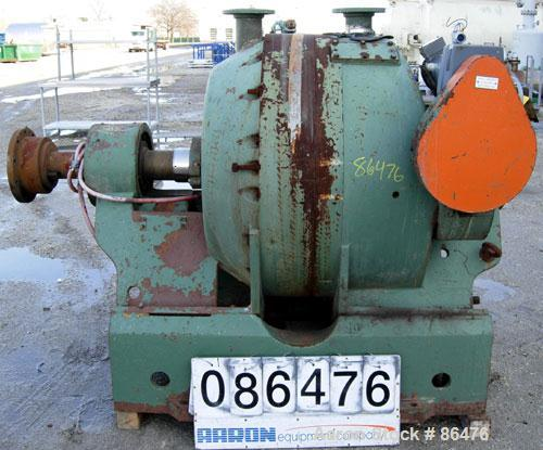 """USED- Sprout Waldron Electro-Mechanical 34"""" Twin-Flo Refiner, Model R34. Approximate 34"""" diameter. (2) 4"""" top feed flange co..."""