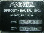 Used- Stainless Steel Andritz Sprout Bauer 42