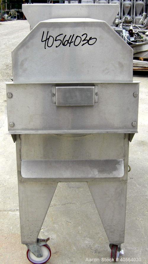 Used- Wine Supply Inc Pulper/Finisher, model ASTI 100, 304 stainless steel. Approximately 12 1/2'' diameter x 46'' long hori...