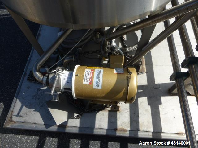 Used- Pasteurizing Skid. Consisting of: 30 gallon stainless steel mix tank. 120 gallon stainless steel holding tank. Mueller...